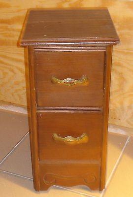 Vintage Cherry 2 Drawer Night Stand / Bedside Table -1900- 1950's-Gorgeous!!