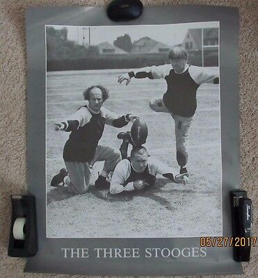 The Three Stooges 3 Stooges Football Mint Rolled Poster Larry Curly Moe 22X28