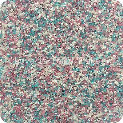 EDIBLE PASTEL MIX SPARKLING GLITTER SUGAR CRYSTALS Cupcake Sprinkles 25g-500g