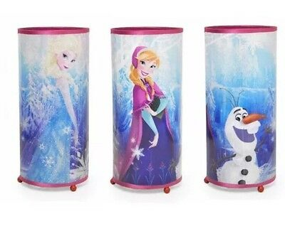 New Table Lamp Night Light Disney Frozen Cylinder Glitter Elsa Anna Olaf Pink