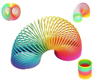 Large Rainbow Spring Coil Slinky Fun Kids Toy Magic Stretchy Bouncing New Uk Slr