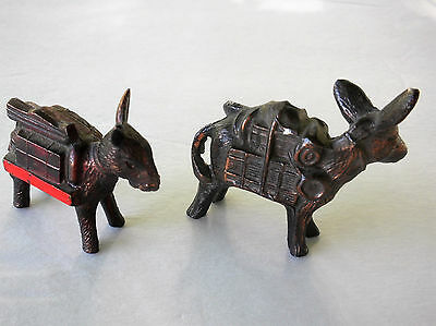 Metal Donkey Figurines  Set of 2  Little Rock,  Ak    Souvenirs    1950's/60's