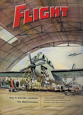 1956 24 FEB 52961  Flight And Aircraft Engineer Cover Advert  THE SHORT SEAMEW