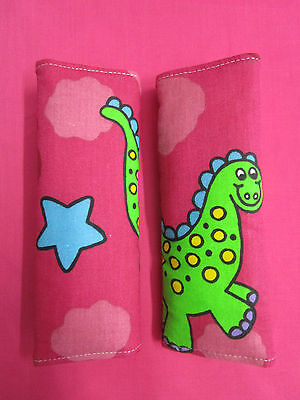 *HOT PINK WITH DINOSAURS*-seat belt covers *Order or alana*