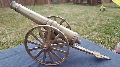 Vintage  Brass cannon  Signal Firecracker  Firing 15in Collectible US
