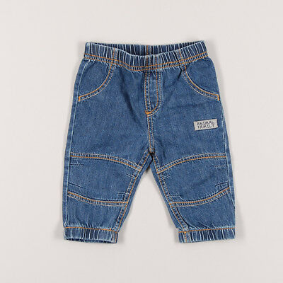 Pantalón vaquero animal family de color Denim oscuro de marca Baby Club 3 Meses