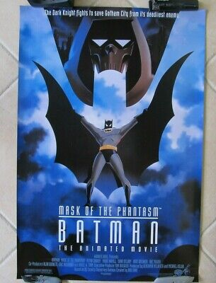 Batman Mask Of The Phantasm Original Rolled Double Sided Movie Poster D/s 27X40