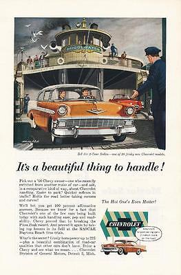 Vintage Magazine Ad - 1956 - Chevrolet Bel Air 2 Door Sport Sedan
