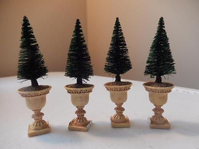 """Department 56 Potted Topiaries (3"""" Tall) Set of 4 (FREE SHIPPING)"""