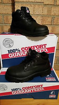 NEW STEEL BLUE Whyalla Black Safety Boots / Shoes Size 12