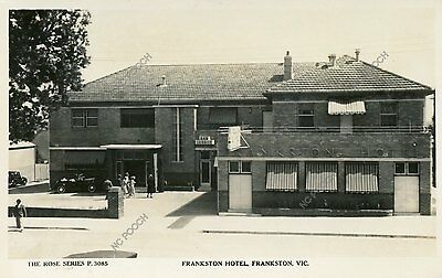 vintage postcard real photo Frankston Hotel Victoria Australia