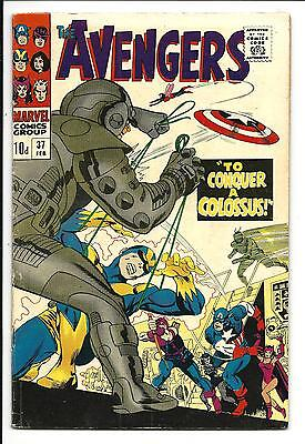 AVENGERS # 37 (To CONQUER a COLOSSUS, FEB 1967), FN-