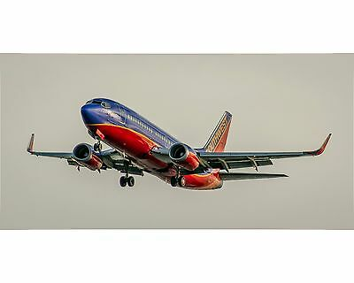 Southwest Airlines Boeing 737 Photo Poster 10x20 (APPM10006)