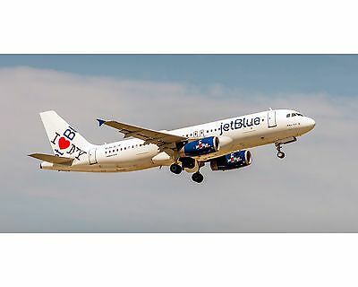 JetBlue Airlines A320 I Love NY Colors Photo Poster 10x20 (APPM10007)