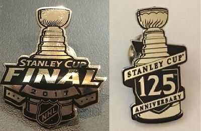 2017 Nhl Stanley Cup Final Pin & 125Th Anniversary 1892-2017 Celebration Years