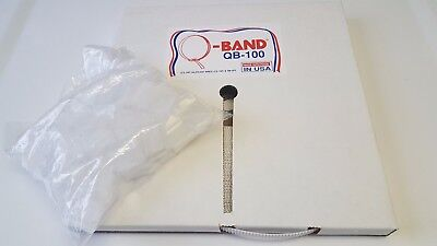 "LOT of 5 Q-Band Band-It Notched Banding with 5 Bags of Clips 1/2"" x 100' long ea"