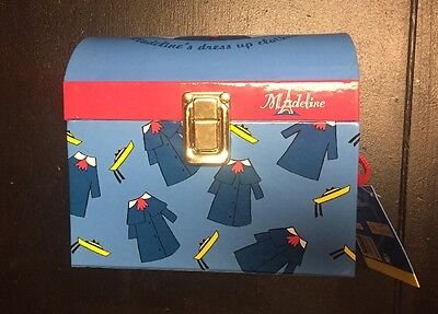 """Madeline Trunk With Dress Up Doll Clothes VERY RARE! 15"""" Rag doll"""