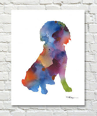 CELLO Contemporary Watercolor Abstract Music ART Print by Artist DJR