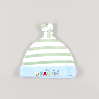 Gorro de velour Funny Dragon de color Blanco 3 Meses