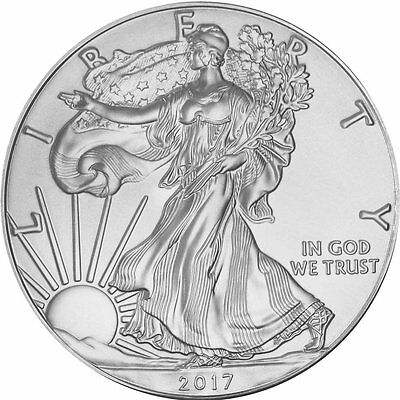 2017 1 oz Silver American Eagle Coin Brilliant Uncirculated .999 Fine Silver
