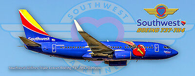 Southwest Airlines Boeing 737 Triple Crown Colors Photo Magnet (PMT1629)