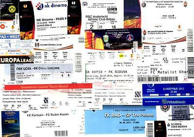 EUROPA LEAGUE TICKETS_2009 - 2012 ! From 1,50 GBP... Updated MAY 2017 !
