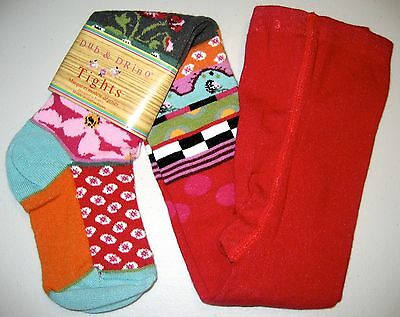 New Girls Dub & Drino 217 Footed Tights Size 4/6 Yrs 76% Cotton Colorful Floral