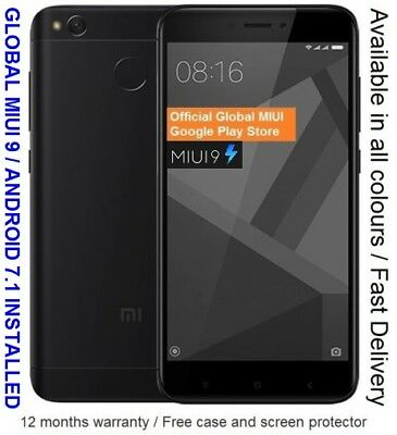 "Xiaomi Redmi 4X 64GB Smartphone 5"" HD Snapdragon 435 CPU Octa Core 4GB RAM NEW"