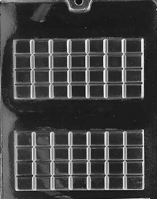 AO072 Break Apart Bar Chocolate Candy Mold w/instructions