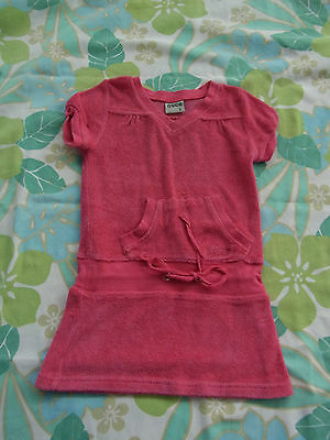 Baby Girls Ouch Terry Toweling Dress Size 0 Great for over swimmers