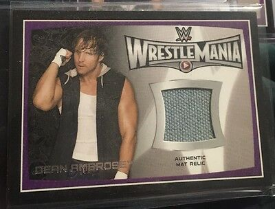 Dean Ambrose Wrestlemania 31 Mat Relic.  $2 Shipping To Canada And The USA