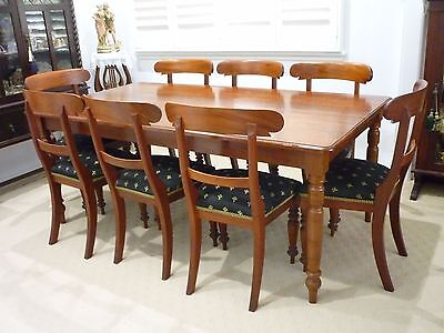 Vintage Solid Cedar Table Chairs Dining Suite Australian