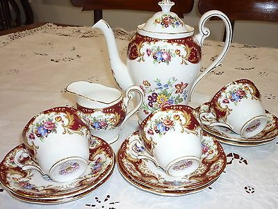 COFFEE SET - Royal Standard - Lady Fayre Coffee Pot Cups Saucers