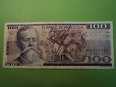 Billete 100 Pesos,  1981, Mexico. Sin Circular