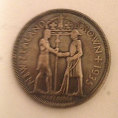 New Zealand 1935 Waitangi Crown Pseudo Coin