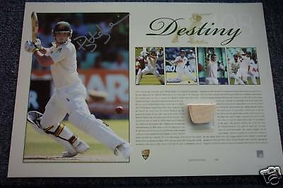 Phillip Phil Hughes Hand Signed Destiny Limited Edition Print And Match Bat