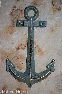 (2), Large Bronzed Look, Boat Anchor, Nautical Decor,seafood Decor,fishing, N-42
