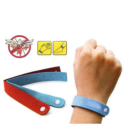 10Pcs Bracelet Anti Mosquito Mozzie Insect Bugs Repellent Repeller Wrist Bands