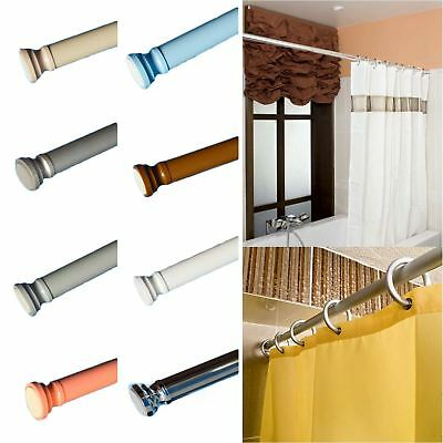 105-180cm Spring Loaded Extendable Telescopic Shower Curtain Rail Rod Pole Rails