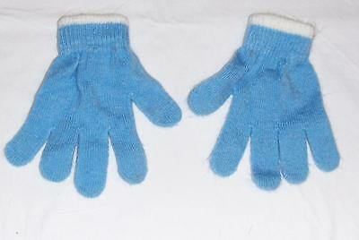 New Disney Blue Olaf Frozen Stretch Gloves-Young Boys Kids Girl Knit Winter Warm