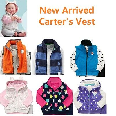 New Carter's Baby Boys Girls Vest 2 3pc spring autumn baby clothes fleece outfit