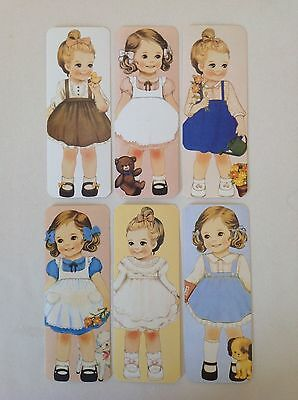 Lotto 6 Segnalibri Bambole Vintage ~ Bookmarks Dolls