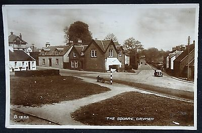 Old Real Photo Postcard - The Square, Drymen, Stirlingshire, Scotland - 1953