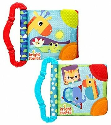 Bright Starts Teethe And Read Teething Book Crinkle Soft Pages For Baby New