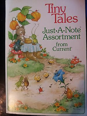 VTG 1980 Current Tiny Tales Just-a-Note Asst of mice/toadstools/bugs Pam Peltier
