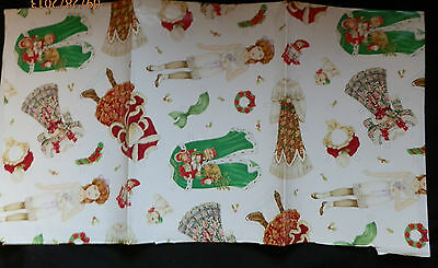 """Paper Doll Christmas Gift Wraping Paper Pretty 24"""" X 23"""" From Current, Inc"""