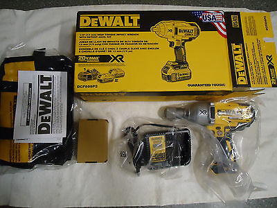 """DeWalt DCF899P2 1/2 """" Impact Wrench with 2 -20V Max Batteries and A/C Charger!"""