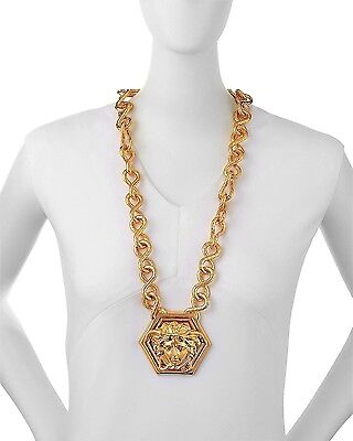 Versace By Haas Brothers Large Medusa Head Pendant Necklace, One Size, Gold