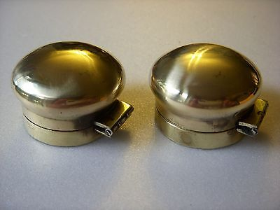 A pair of original brass dome vintage/antique ink well lids