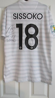 """Signed """"Moussa Sissoko - France """"2014 World Cup Away Shirt(EXACT PROOF) WITH COA"""